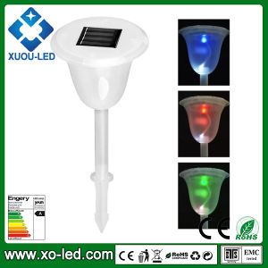 RGB Solar Lawn Light Outdoor Yard Garden Path Way Solar Power LED Tulip Landscape Flower Lamp Lights