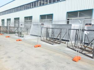 Temporary Fencing As4687 System Included Panels, Clips as Well Foot for Sale pictures & photos