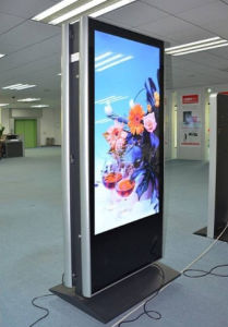 Outdoor Double Side LCD Advertising Display Floor Standing Digital Signage pictures & photos