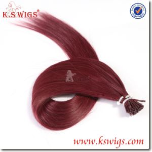 Brazilian Remy I-Tip Keratin Human Hair Extensions pictures & photos