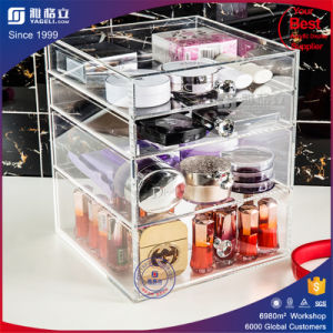 China Factory Handmade Acrylic 4 Makeup Drawers pictures & photos