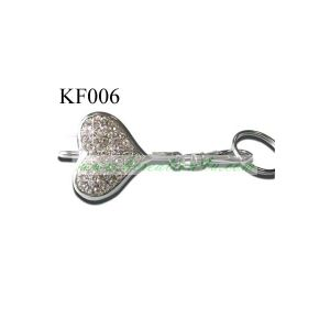 Metal Crystals Heart Key Finder Key Ring (HK-KF006) pictures & photos