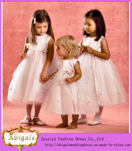 Scoop Sleeveless Tea Length Tulle Flower Girl Dress (MI 3548)