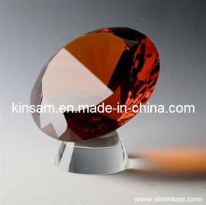 Diamond Shaped Glass Paperweights and Diamond Cut Crystal