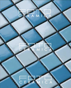 Blue Swimming Pool Decoration Ceramic Mosaic Tile 25X25mm