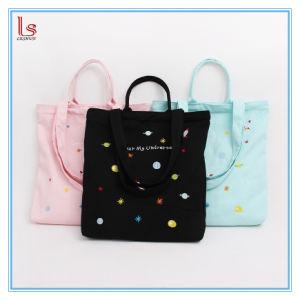 New Fashion Unique Women Cotton Canvas Tote Handbags Top-Handle Shopper Shoulder Bag pictures & photos