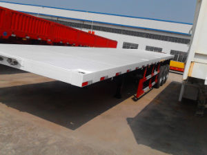 2015 Factory Price Tri-Axle 60 Ton 40ft Container Flatbed Truck Trailer / Semitrailer / Container Semi-Trailer with Twist Lock pictures & photos