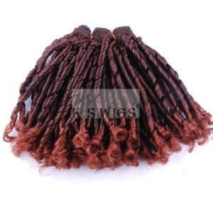 Cheap Price Synthetic Hair Weft Extension pictures & photos