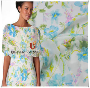 Printed Polyester Chiffon/Crepe Chiffon Fabric for Garments pictures & photos