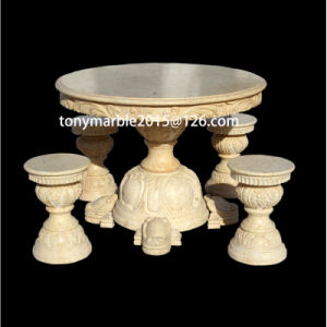 Beige Stone Sculpture Marble Tables (SY-T001) pictures & photos