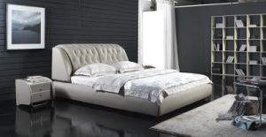 2012 New Modern Soft Bed (6023) pictures & photos