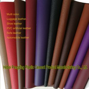SGS Gold Certification Z038 PVC Outdoor Sports Shoe Leather Artificial Leather PVC Leather pictures & photos