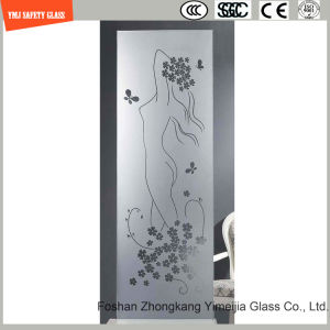 4-19mm Silkscreen Print/No Fingerprint Acid Etch/Frosted/Pattern Safety Tempered/Toughened Glass for Hotel  Shower,Bathroom, Fence with ISO,SGCC,Ce Certificate pictures & photos