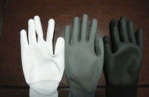 PU Coated Safety Working Glove pictures & photos