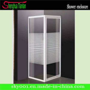 No Tray Square Strip Tempered Fiber Glass Shower House (TL-419) pictures & photos