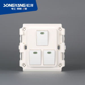 New Electric Switch White Series 3gang Wall Switch pictures & photos