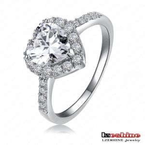 Elegant Heart Zircon Wedding Rings for Women (CRI0004-B)