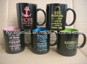 11oz Spray Color Mug with Laser Logo pictures & photos
