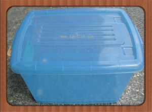High Quality Clear Transparent Plastic Storage Box with Wheels