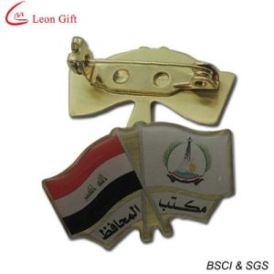 Wholesale Printing Flag Brass Lapel Pins (LM1730) pictures & photos