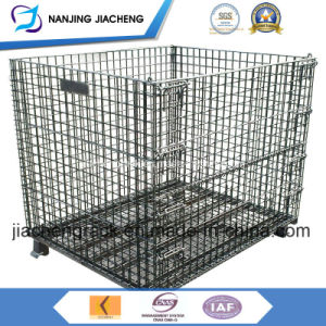 Warehouse Folding Galvernized Steel Wire Mesh Container with High Quality pictures & photos