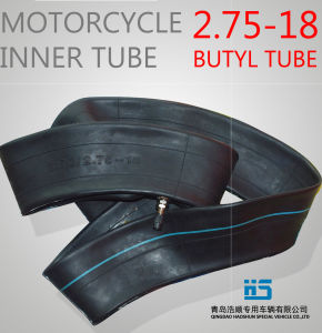 Motorcycle Natural Rubber Inner Tube Motorcycle Tube 2.75-18 pictures & photos
