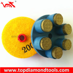 Resin Bond Diamond Rigid Polishing Pads for Wet or Dry Polishing Concrete Floor pictures & photos