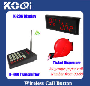 Ticket Dispenser Wireless Queue Calling System Fast-Food Restaurant pictures & photos