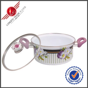 Eco-Friendly Kitchenware Enamel Cookware Set Sauce Pan pictures & photos