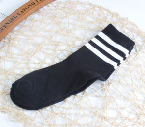 Spring Campus Against The Stench 100% Cotton Striped Leisure Breathable Factory Socks pictures & photos