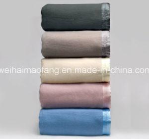 Woven Woolen 100%Virgin New Wool Hotel Blanket pictures & photos