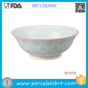 Natural and Fresh with Light Blue Pattern Porcelain Bowl pictures & photos
