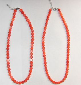Fashion Natural Crystal Red Bamboo Coral Amethyst Charming Necklace Jewelry pictures & photos