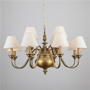 Home Iron Chandelier Lighting with Fabric Shade (SL2179-8+4) pictures & photos