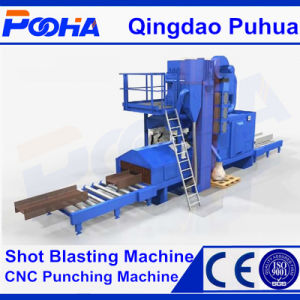 Protective Liner Q69 Series Steel Profile Sand/Shot Blasting Machine pictures & photos