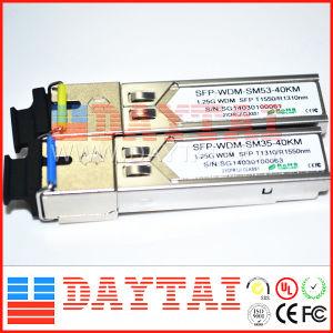 40km 1.25g Wdm SFP Module Singlemode Sc Connector pictures & photos