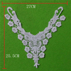 Soft White Cotton Embroidery Collar Lace (cn82) pictures & photos