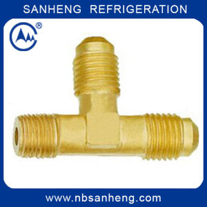 Brass Two Way Tee Flare to NPT on Branch pictures & photos