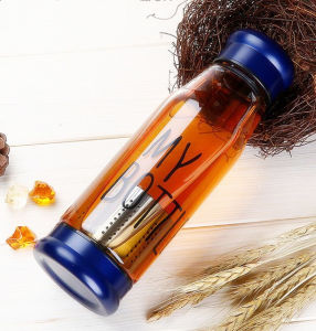 Popular Glass Sport Bottle with Filter Tea Cup with Filter Gift Tea Cup Recyclable Cups pictures & photos