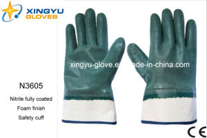 Jersey Liner Nitrile Foam Safety Work Gloves (N3605) pictures & photos