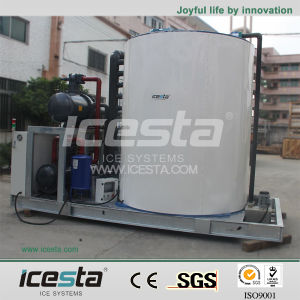 Icesta Large Industrial Water Cooled Flake Ice Maker Machine pictures & photos
