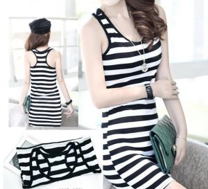 High Quality Fashion Custom Seamless Striped Tank Top pictures & photos