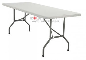 Popular High Quality MDF Table Top Foldable Teacher Table with Adjustable Level Feet and Steel Frame pictures & photos