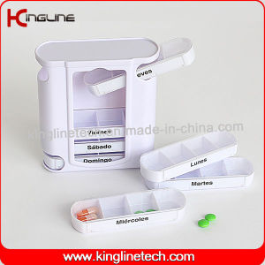 Plastic Drawer Pill Box with 28-Cases (KL-9038) pictures & photos