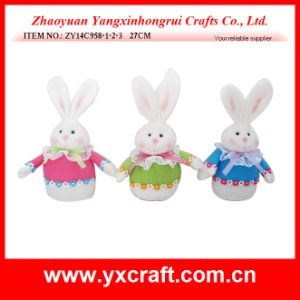 Easter Decoration (ZY14C958-1-2-3 27CM) Fabric Knitted Rabbit Easter pictures & photos
