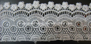 Fantastic Design White Color Large Size Polyester Embroidered Lace (CCT00152/5)