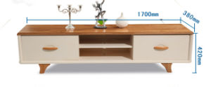 Modern Solid Wood TV Stand with Wine Chest and Rack pictures & photos