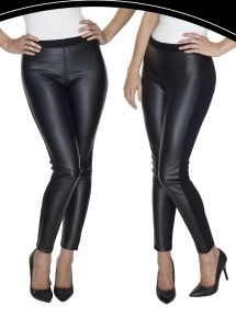 2017 Women′s Tight Legging Made of PU Leather & Roma Fabric pictures & photos