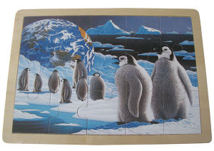 Wooden Jigsaw Penguin Puzzles OEM Design Art (34671) pictures & photos