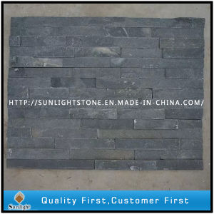Culture Stone Black Slate Stone with Natural Split Surface pictures & photos